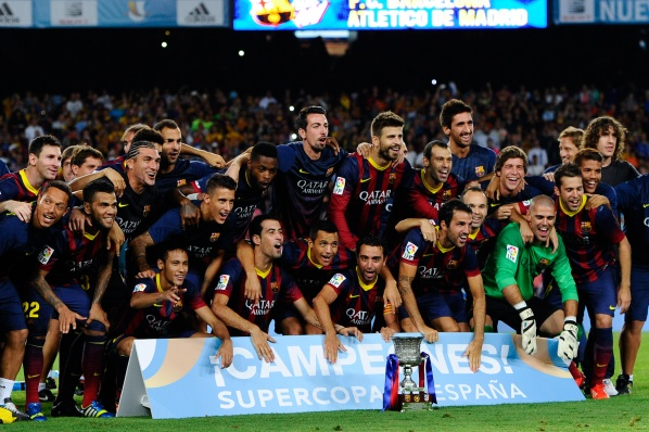 Messi missed a penalty kick, but Barca lifted the Super Cup