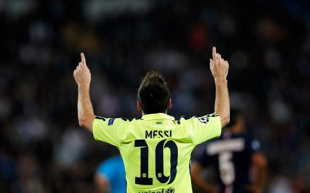 Lionel Messi scored goal №500 for Barca in Champions League