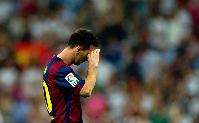 Messi played with a minor injury in Clasico