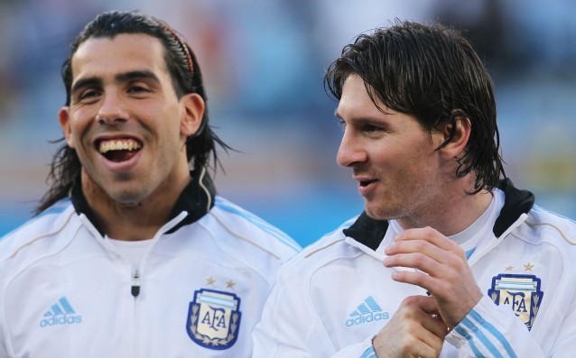 Tevez: The greatest pleasure for any player is to play with Messi