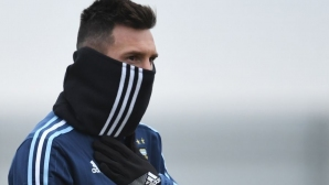 Messi froze in Moscow (photos)